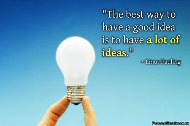 Cómo tener la mejor idea